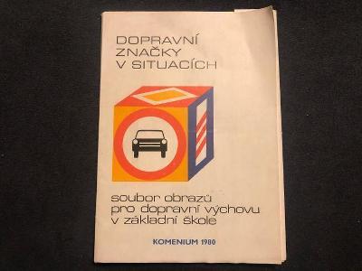 Autoškola - dopravní značky v situacích 1980