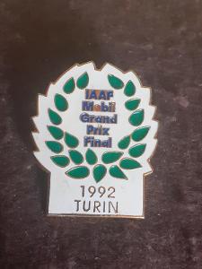 Odznak  IAAF MOBIL GRAND PRIX FINAL TURÍN 1992 - motorismus