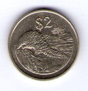 Zimbabwe 2 Dollars 1997 mosaz KM 12