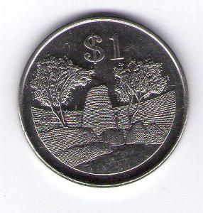 Zimbabwe 1 Dollar 2002 Ni cl.ocel KM 6a