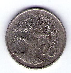 Zimbabwe 10 cents 1994 Cu-Ni KM 3