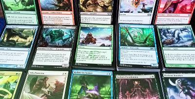 MTG přes 800 karet, COMMON, UNCOMMON, RARE, mix edic