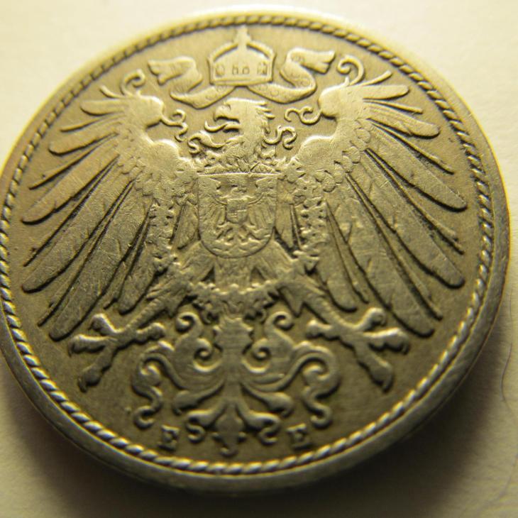 Německo, Kaiser Reich , 10 pfennig z roku 1900 E - Numismatika