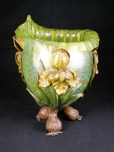 Váza Loetz s kovovou montáží