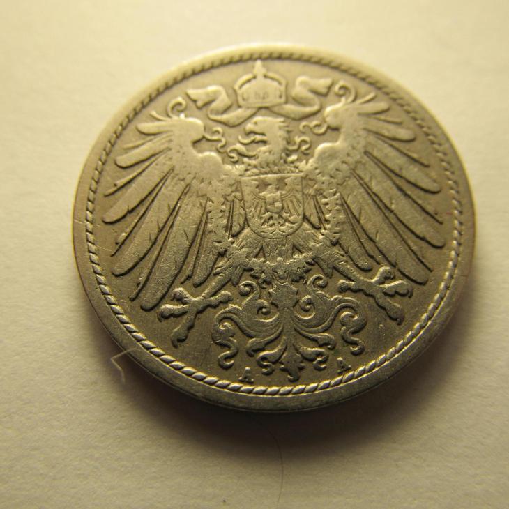 Německo, Kaiser Reich , 10 pfennig z roku 1902 A - Numismatika