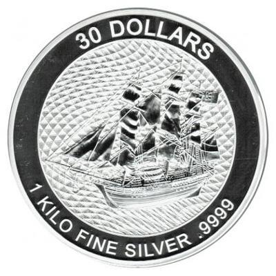 Stříbrná mince 1 Kg Bounty Cook Islands 2020