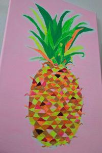 Obraz neonový ananas