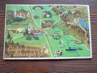 Starší mapa/průvodce - Čáslav - od 1kč