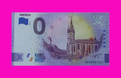 0 Euro souvenir bankovka PREŠOV 2021