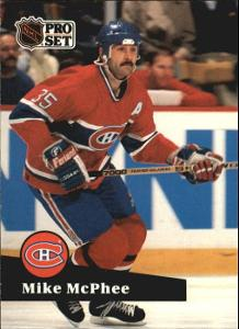 MIKE McPHEE @ MONTREAL CANADIENS @ Pro Set French