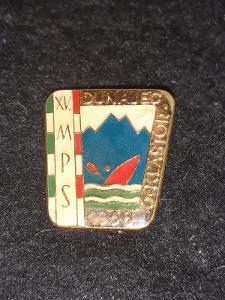 Odznak XV. MPS DUNAJEC - Č.KLÁŠTOR 1968  - kanoistika