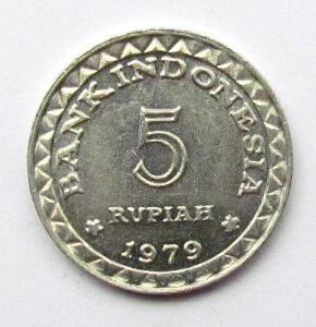 Indonésie 5 rupií 1979