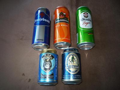 5x mix (asi Německo) - plechovky, pivo /sada 2/