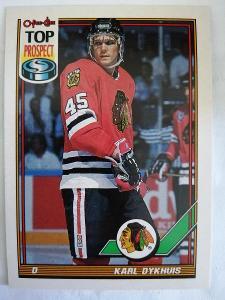 Karl Dykhuis #172 Chicago Blackhawks 1991/1992 O-Pee-Chee