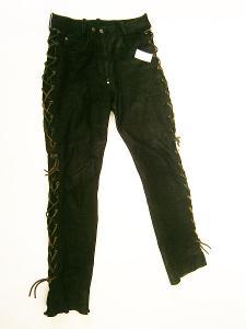Kožené kalhoty dámské šněrovací SPEEDWARE- vel. L/40, pas: 74 cm
