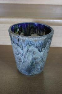 Váza sklo ( Bruno Riedel ) č.19N
