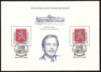 1993 (ČR) - PAL1 - PREZIDENT, Pam. list ČP (6785)