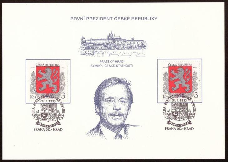 1993 (ČR) - PAL1 - PREZIDENT, Pam. list ČP (6785) - Filatelie