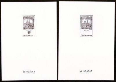 1999 (ČR) - PT9a + PT9b - Tradice známkové tvorby, Černotisky (6790)