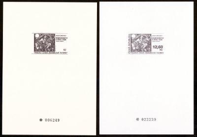 1998 (ČR) - PT6a + PT6b - Tradice známkové tvorby, Černotisky (6792)
