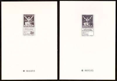 1997 (ČR) - PT5a + PT5b - Tradice známkové tvorby, Černotisky (6793)