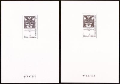 1996 (ČR) - PT3a + PT3b - Tradice známkové tvorby, Černotisky (6794)