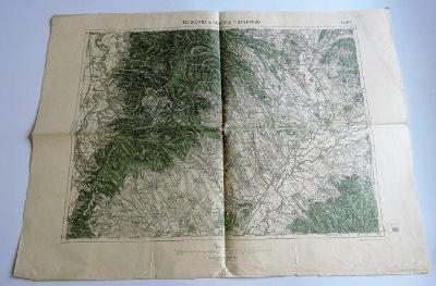 Vojenský ústav Mapa 1922-1936 První republika - Topolčany a Bánovec na