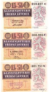 Třídní loterie   51-46  různé serie