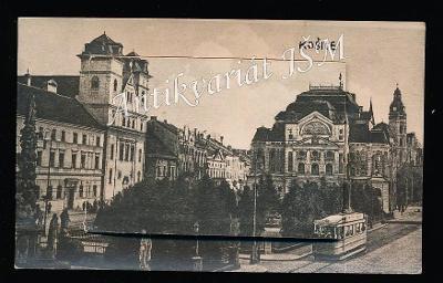 Slovensko Košice H4933 Národní Divadlo Tramvaj Morový Sloup Skládačka