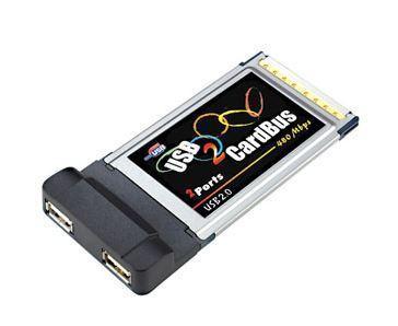 Nová PCMCIA (cardbus) karta jako adaptér na 2x USB 2.0  origo baleno z