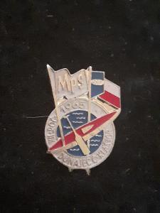 Odznak MPS DUNAJEC  - Č.KLÁŠTOR 1965 - kanoistika