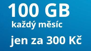 Datamánie o2 SIM 100 GB , limitovaná edice, 300 Kč za měsíc
