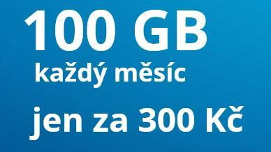 Datamánie o2 SIM 100 GB , limitovaná edice, 300 Kč za měsíc - Předplacené služby