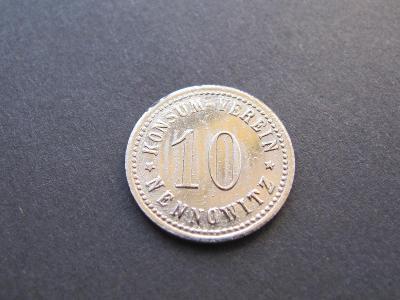 Účelová znamka - BRNĚNSKÉ IVANOVICE / 10 Nennowitz  Konsum-Verein