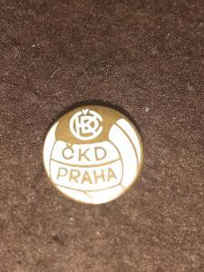 Odznak ČKD PRAHA - bílá varianta