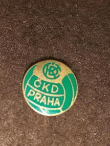 Odznak ČKD PRAHA - zelená  varianta