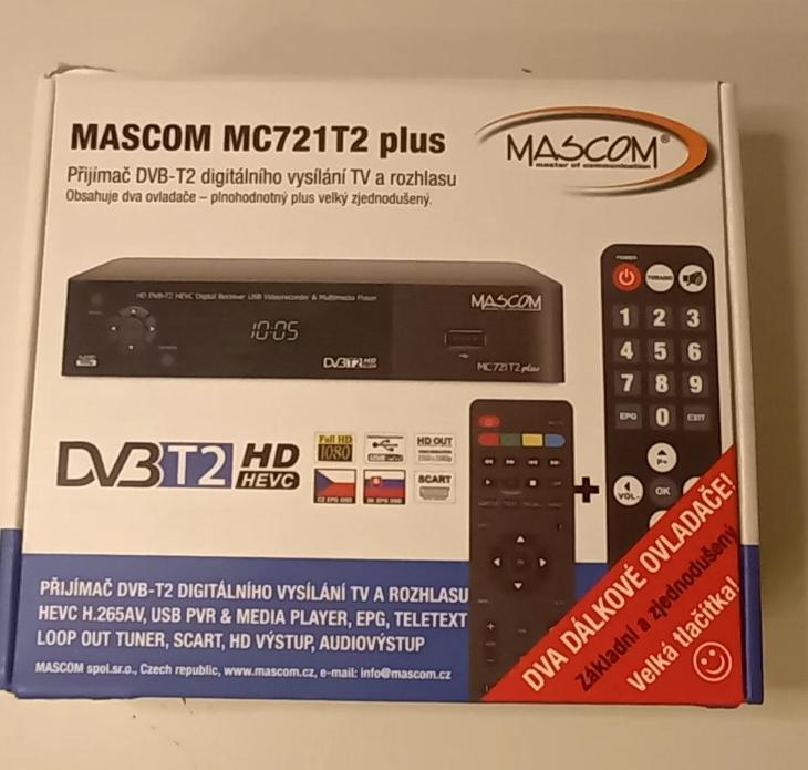 Přijímač DVB - TV, audio, video