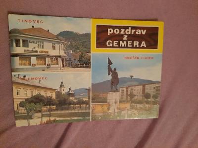 Pohlednice Pozdrav z Gemera,prošlé poštou