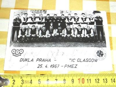 1967  ---   DUKLA  Praha  - Celtic GLASGOW  fotbal  foto