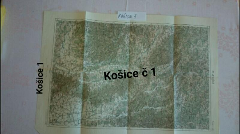 Košice, generálská mapa  - Antikvariát