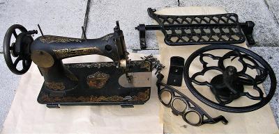šlapací šicí stroj B. Stoewer Central Bobbin, před 1918, č. 1436349,