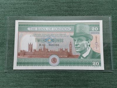 20 pounds, Sherlock Holmes, B.01 000396, stav UNC