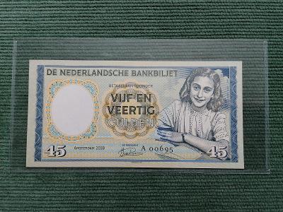 45 gulden, Anne Frank, A 00695, stav UNC