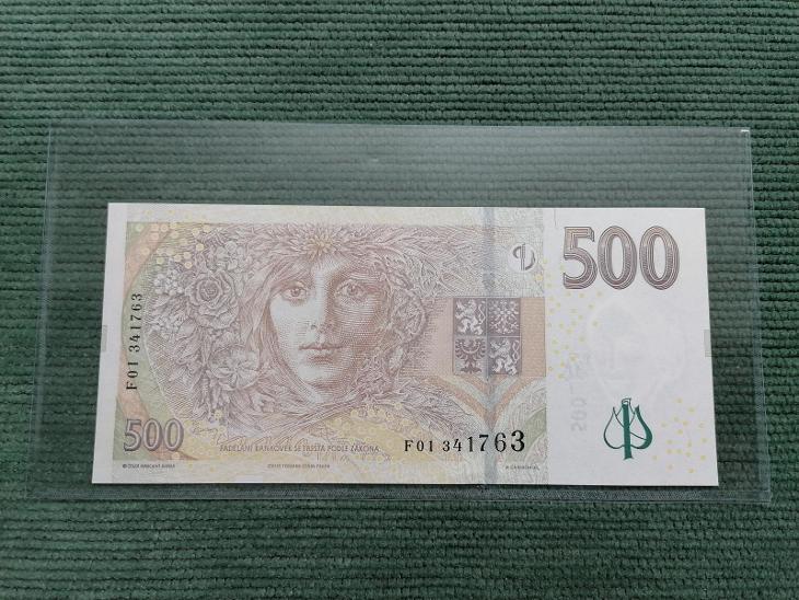 500 Kč 2009, série F01, stav UNC - Bankovky