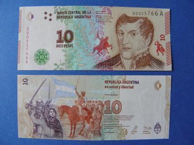 10 Pesos ND(2016) Argentina - P360 - UNC - /Y153/