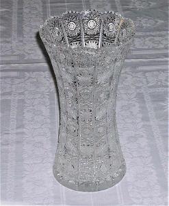 broušený český křišťál: váza 24 cm, klasický brus 500 PK