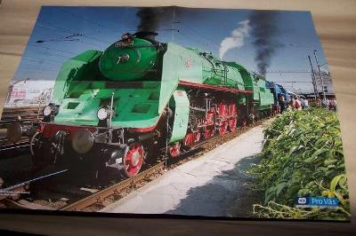 ČSD PARNÍ LOKOMOTIVA  486 007 plakát nádraží PLZEŇ
