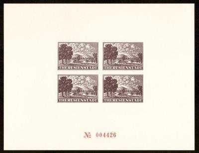 1996 (ČR) - Faksimile Aršíku TEREZÍN z monografie (6804)