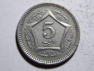 Pakistan 5 Rupees 2003 XF č20384