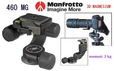 💥 Manfrotto 460 MG - 3D MAGNESIUM hlava **Nosnost: 3kg** TOP👍